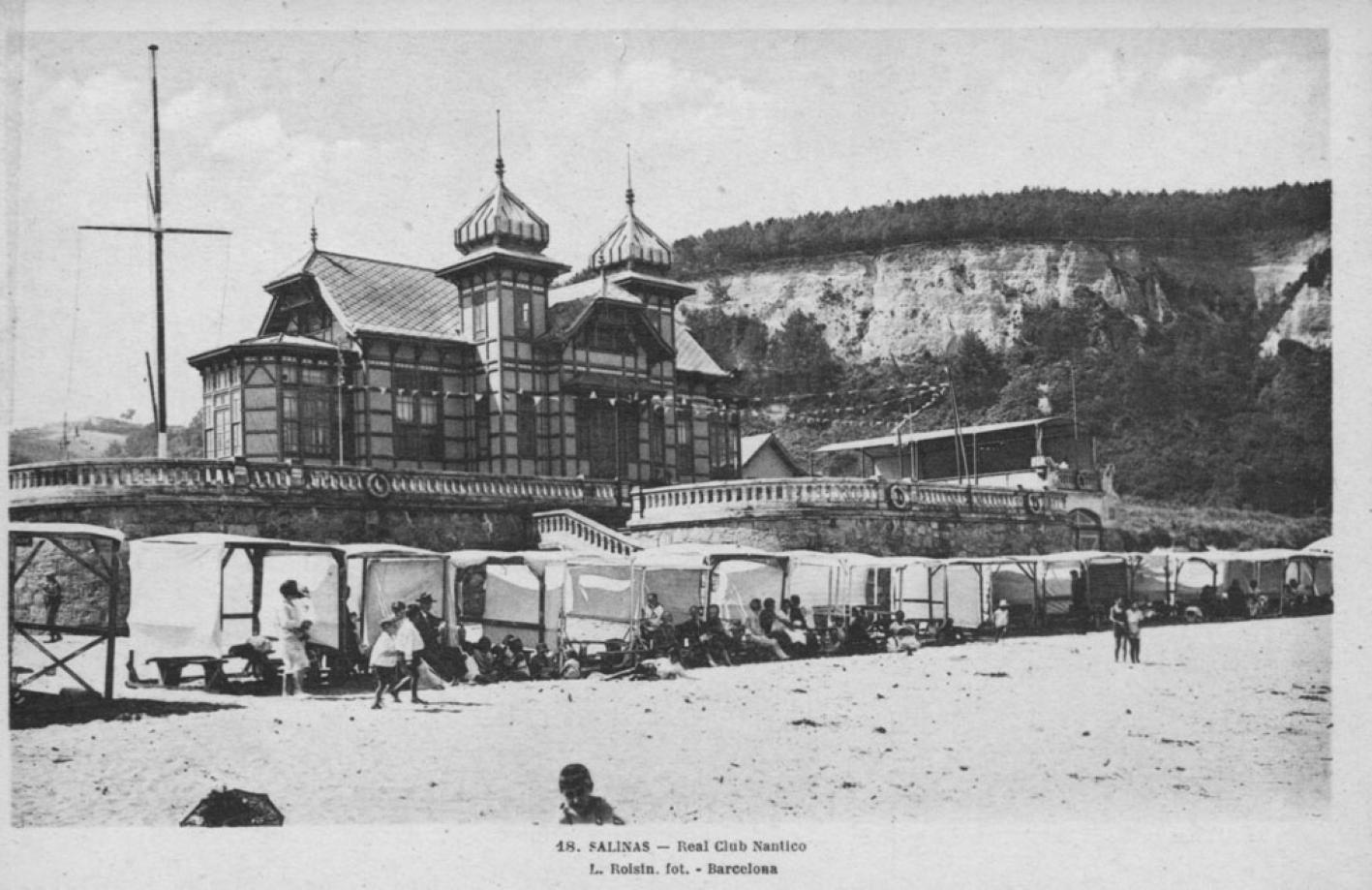 Real club n utico de salinas hacia 1920 lucien roisin pinterest fotos antiguas playa y - Hotel salinas asturias ...