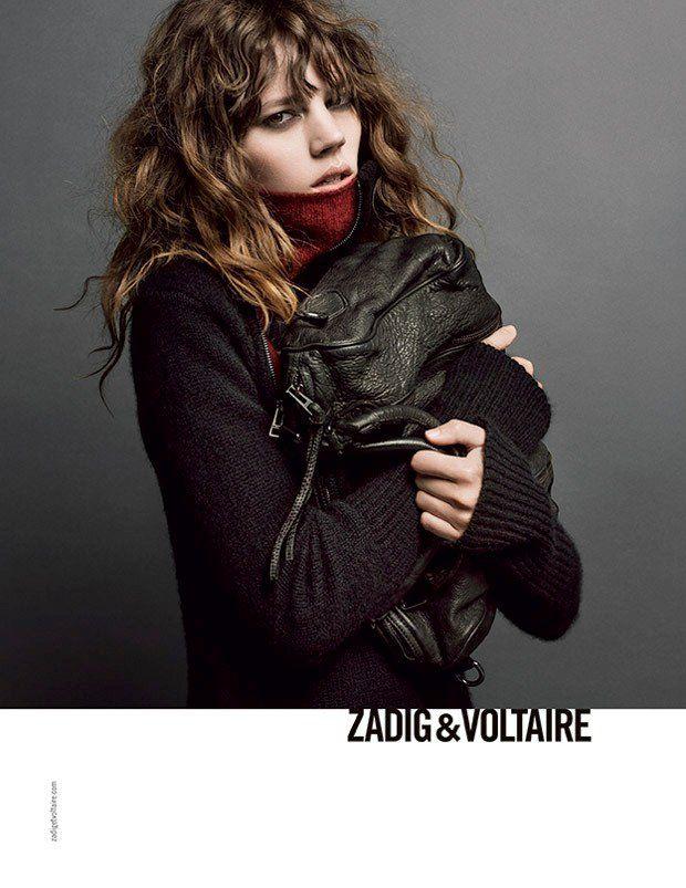Freja Beha Erichsen Stars in Zadig & Voltaire Fall 2013 Ads