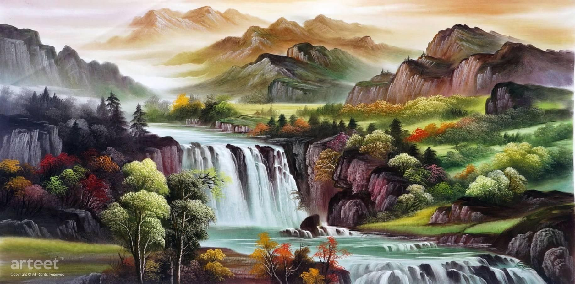 Mountains Reverence Landscape Art Painting Art Painting Art Paintings For Sale