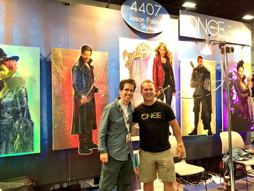 Happy stopped by the booth this past weekend at #SDCC2015 RT if you think Jason could be the next dwarf Artsy! #OUAT