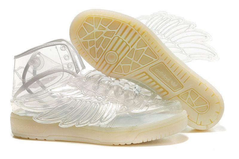 adidas jeremy scott clear white wings