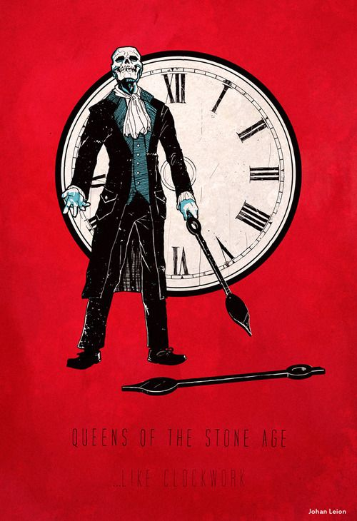 Queens Of The Stone Age Like Clockwork Rock Poster Art Music Poster Music Artwork