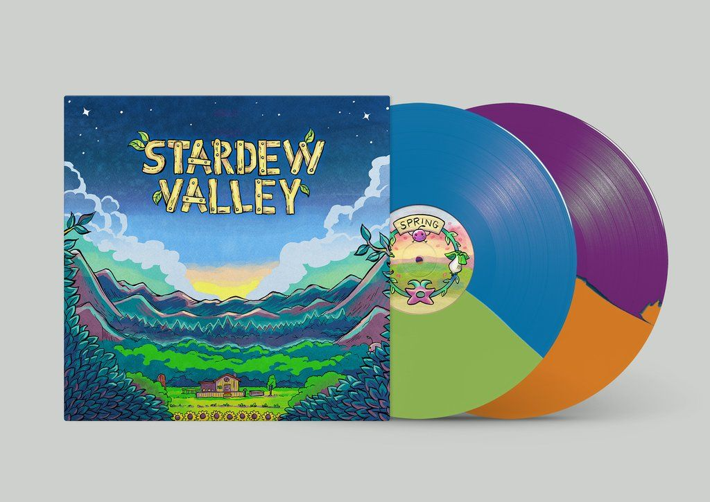 Stardew Valley Original Video Game Soundtrack 2xlp Stardew Valley Original Video Games Vinyl Artwork