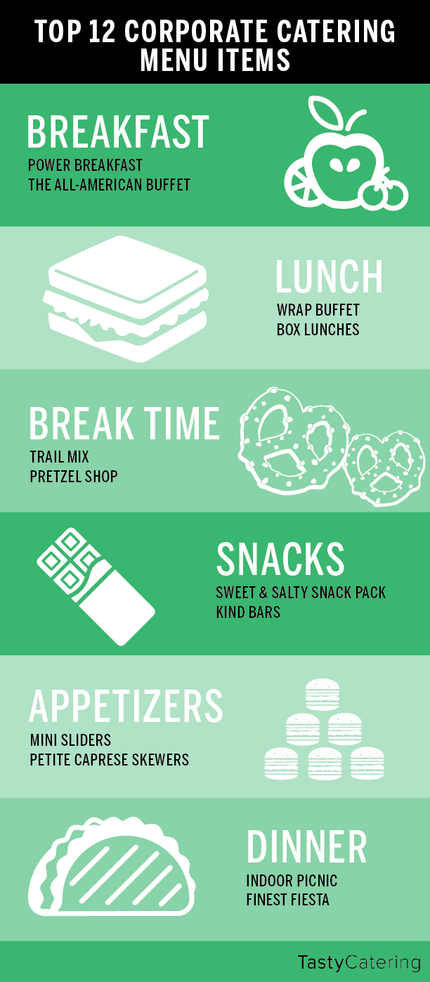 White apron catering menu - Top 12 Corporate Catering Menu Items