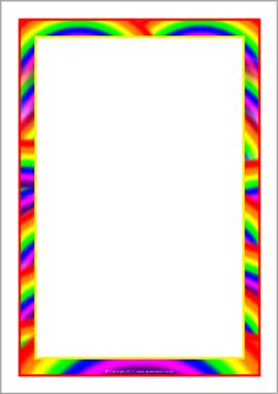 Rainbow-themed A4 page borders (SB7475) - SparkleBox ...