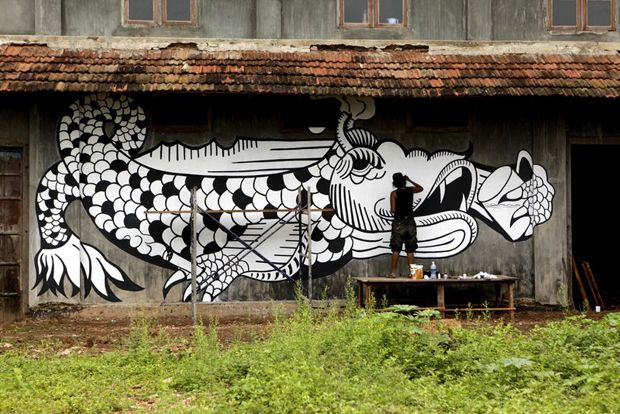 india street art | Street art forms backdrop to India's first biennale | Art | Agenda ...