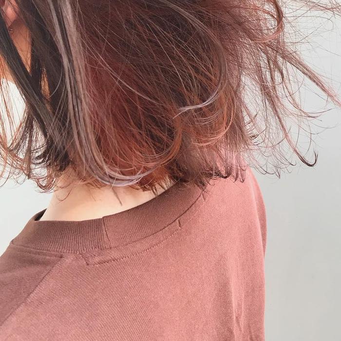 オレンジブラウンの髪色はもう試した ブリーチなしでも華やかな上品