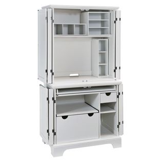 home styles naples white compact computer desk hutch http