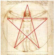 on retrouve aussi le pentagramme sur l 39 homme de vitruve de l onard de vinci https www. Black Bedroom Furniture Sets. Home Design Ideas