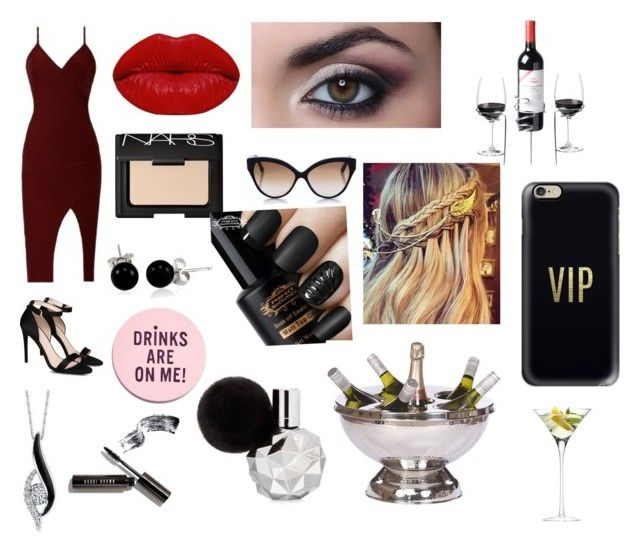 """""""My night at the bar"""" by dolphinlover18 ❤ liked on Polyvore featuring STELLA McCARTNEY, Winky Lux, NARS Cosmetics, Bobbi Brown Cosmetics, Bling Jewelry, Sirena, Cutler and Gross, Casetify and LSA International"""