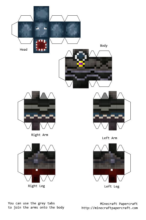 Minecraft Papercraft Squiddoesminecraft Cosas Para Armar - Minecraft namen fruher andern