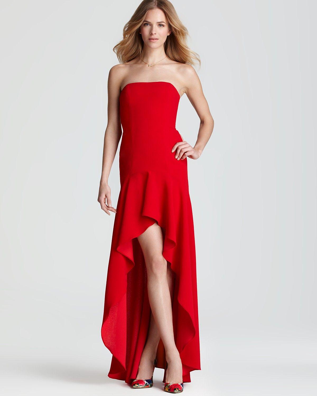 Bcbgmaxazria Strapless Dress High Low Women Contemporary Bloomingdale S Red Gown Dress Strapless Dress Bcbg Dresses [ 1500 x 1200 Pixel ]