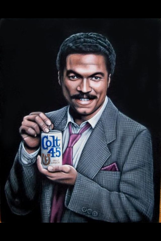 Lyric colt 45 lyrics video : Billy Dee Williams for Colt 45 Malt Liquor, on black velvet ...