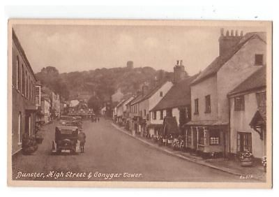 High Street & Conygar Tower, Dunster, Somerset, England. Some of my ancestors were from Dunster - if you're researching the surname Thomas, do get in touch! esjones <at> btopenworld.com