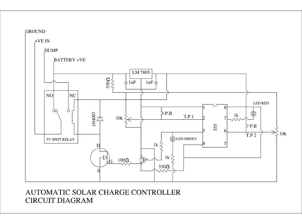 Diy Automatic Solar Charge Controller Solar Solar Panels Circuit Diagram