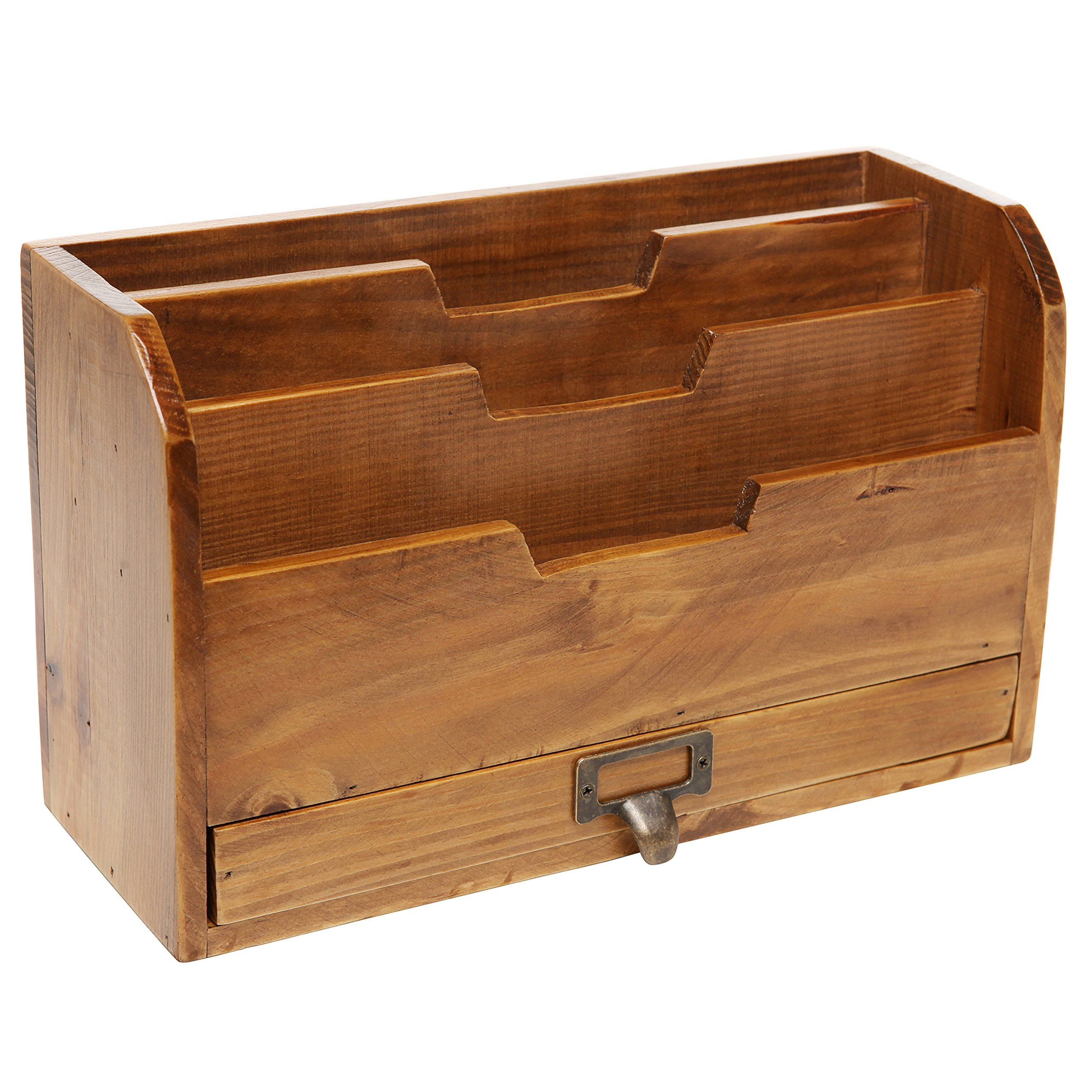 Admirable 3 Tier Country Rustic Vintage Wood Office Desk File Home Interior And Landscaping Mentranervesignezvosmurscom