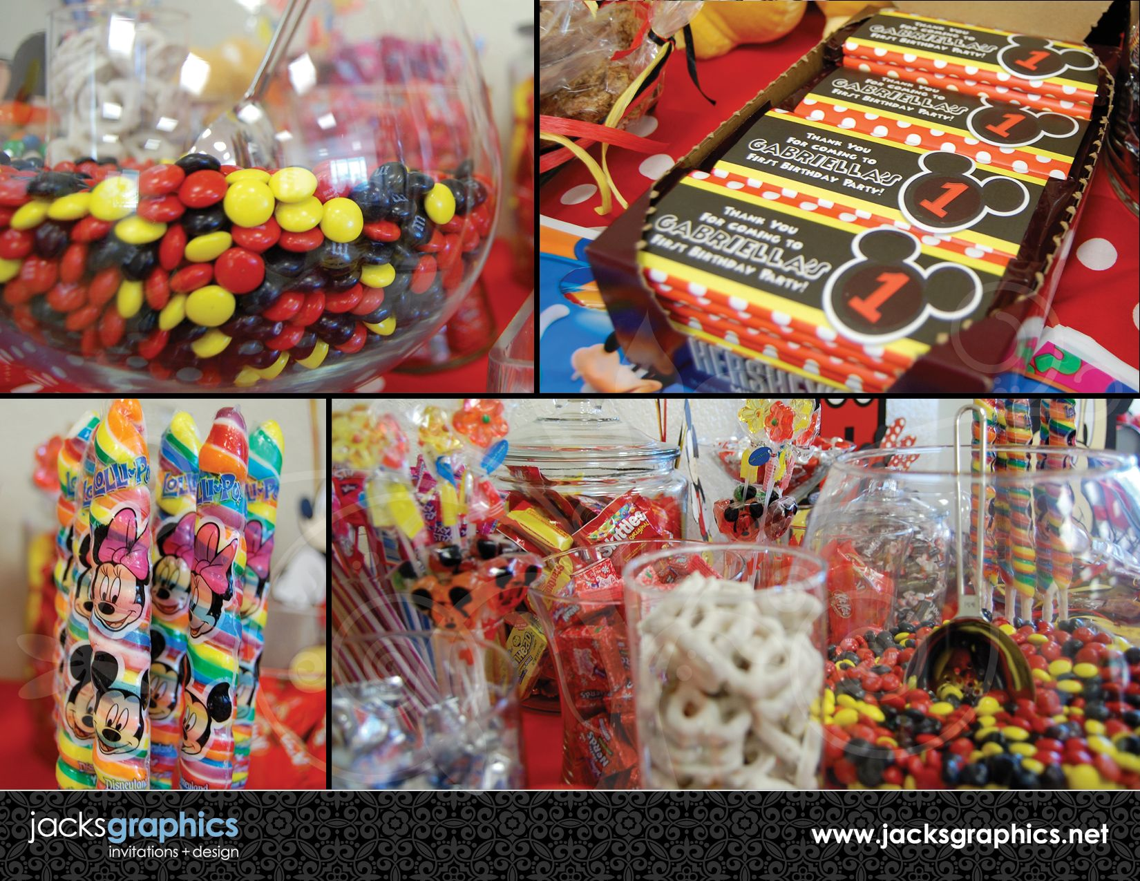 Mickey Mouse Candy Table | Mickey Mouse Clubhouse Party Design ...