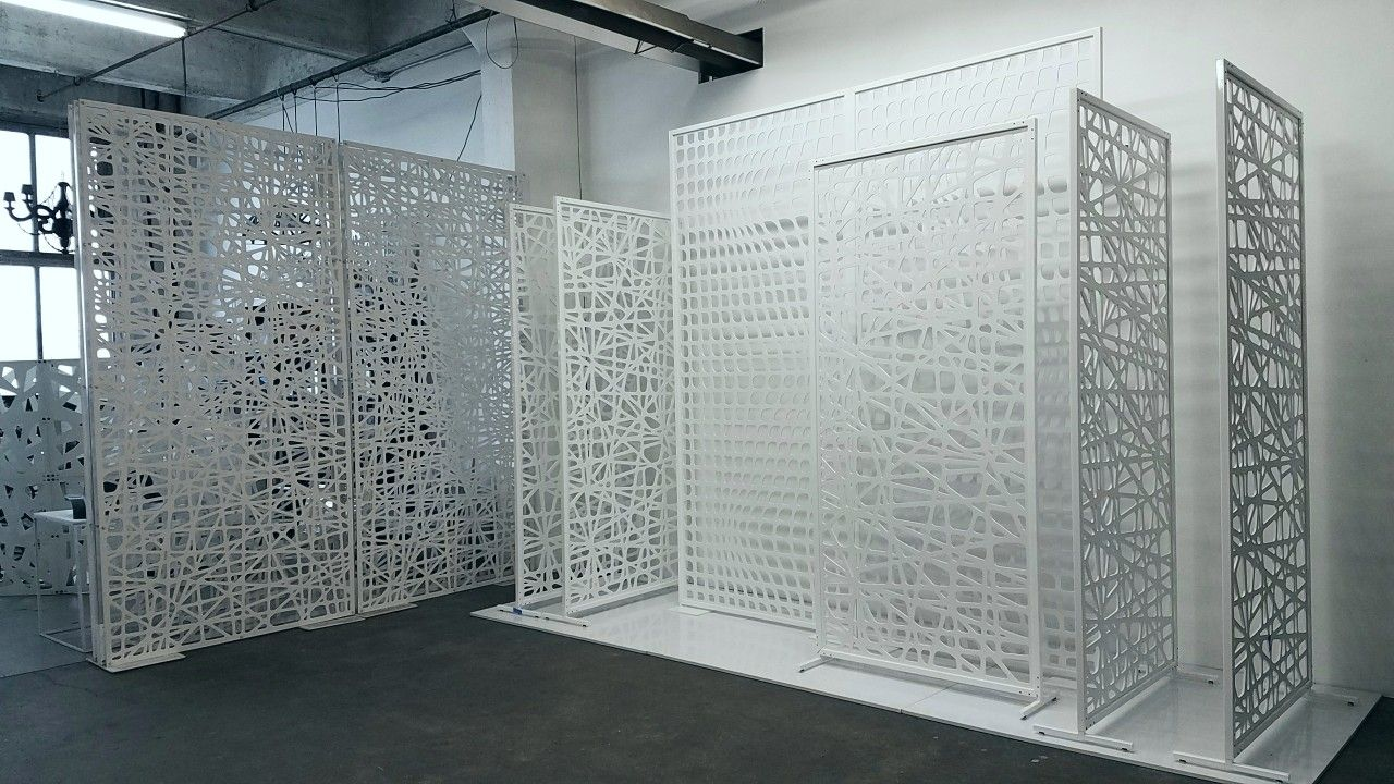 Decorative Screen Room Dividers Single Layer Pvc Panel