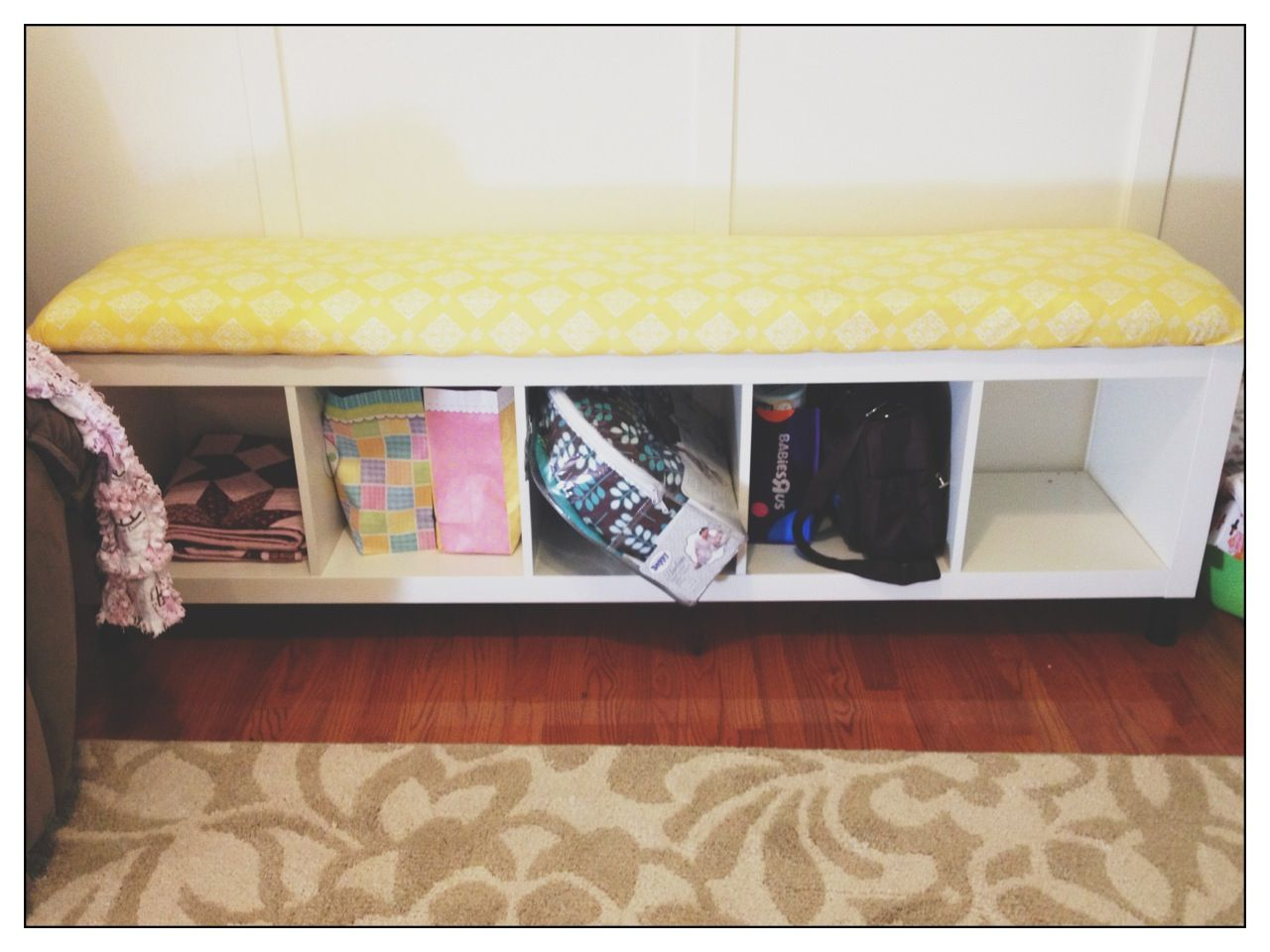 Diy Bench Seat Cushion With Mattress Foam Pad Instead Of Expensive Fabric Store Padding Total