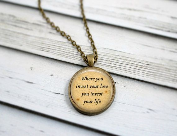 Mumford and Sons Lyrical Necklace  Where You Invest by LivinFreely, $17.99