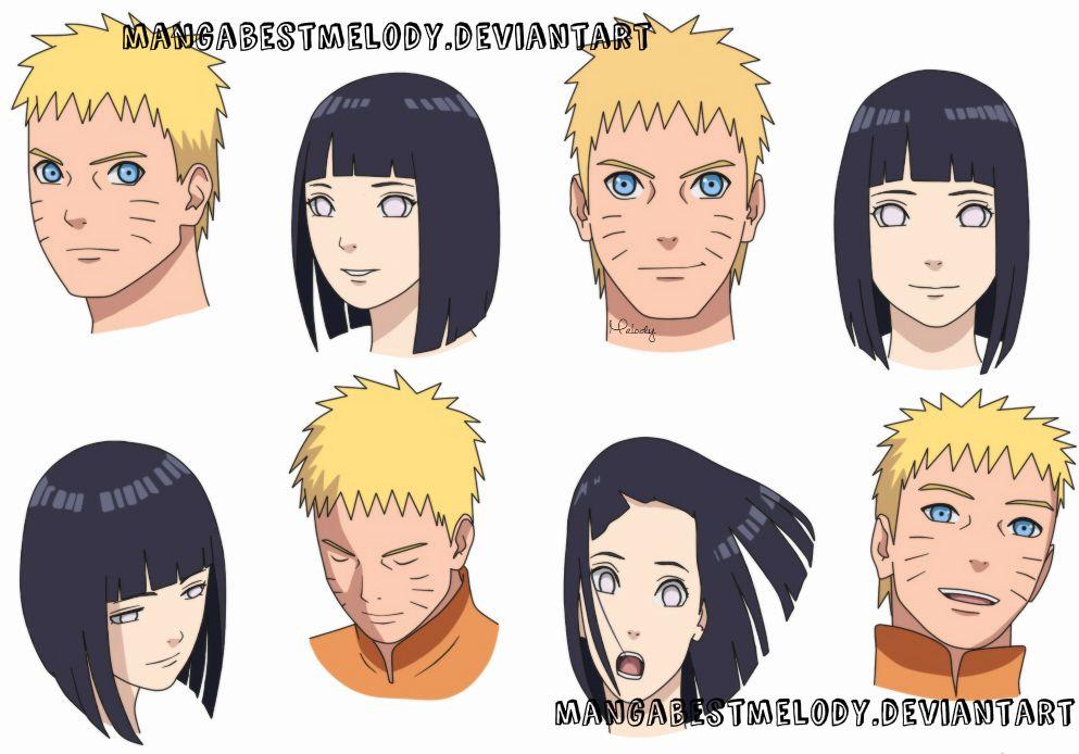 Naruto y Hinata (Bocetos de Boruto the movie) by MangaBestMelody                                                                                                                                                     Más