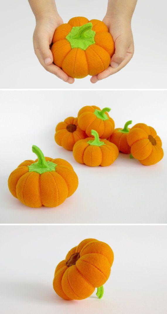 Jouets biologiques citrouille oranges pour bébé douche par MyFruit