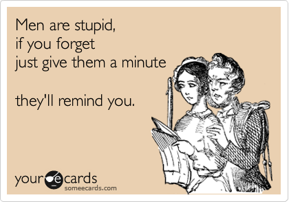 Men Are Stupid If You Forget Just Give Them A Minute They Ll Remind You Stupid Quotes Stupid Guys Boys Are Stupid