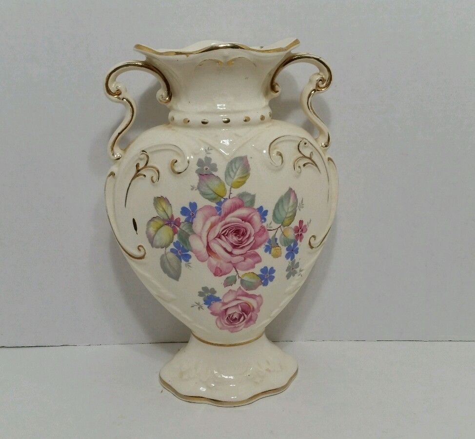 Rare Royal Fenton Staffordshire Vase Romantic Cottage Shabby Pink Roses Amazing Pottery Amp Glass Glass Ar Glass Art Products Romantic Cottage Glass Art