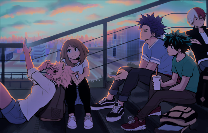 Sweet Melody Bnha X Reader In 2020 Cute Laptop Wallpaper Anime Scenery Wallpaper Cute Anime Wallpaper