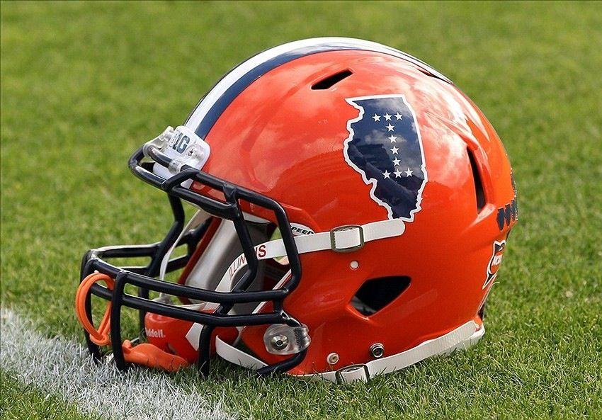 Fighting Illini football helmet Fighting illini football