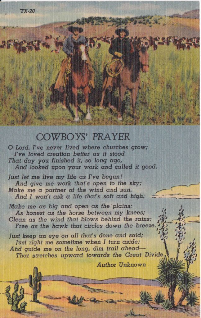 Cowboy's Prayer - this would be so cute in a cowboy nursery