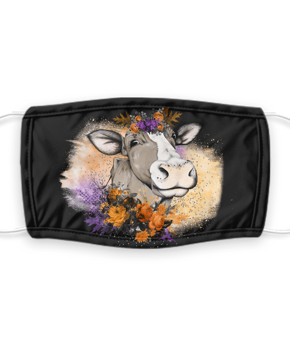 Halloween Cow Mask Face Mask 7 Layer PM2.5 Carbon Filter