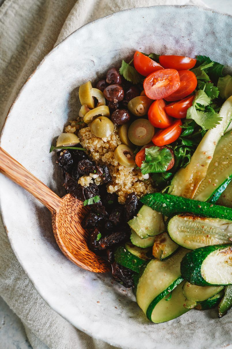 Loaded Zucchini And Quinoa Salad With Prunes