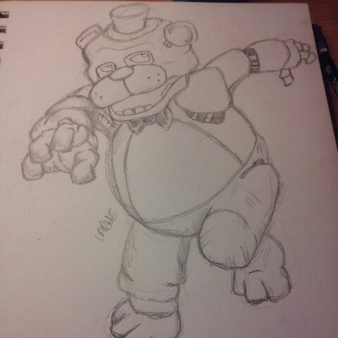 Freddy Fazbear from Five Nights At Freddy's sketch
