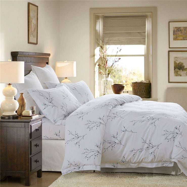 new style king size duvet cover cotton printing bed sheet set