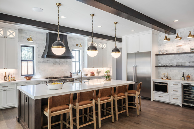 The 10 Most Popular Kitchens On Houzz Right Now In 2020 Transitional Kitchen Design Urban Farmhouse Kitchen Contemporary Style Kitchen