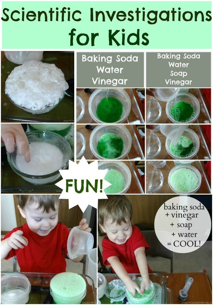 FUN Scientific investigations for kids!  Can your little one hypothesize the varying outcomes?