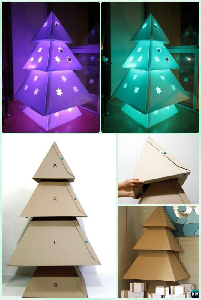 DIY Lighted Cardboard Christmas Tree Lights Instruction - DIY ... on outdoor christmas ideas, outdoor water features ideas, xmas light ideas, outdoor party lights ideas,