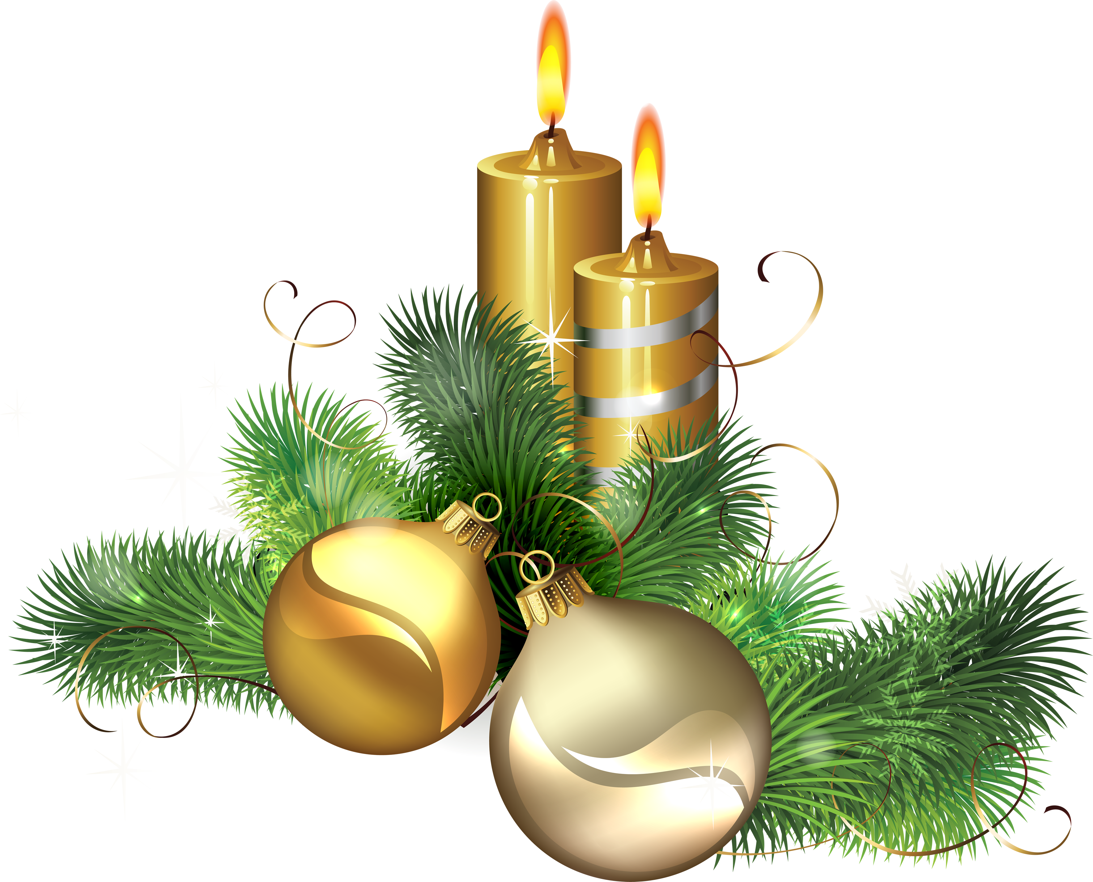 Yule candle clip art download png image christmas for Decoration clips