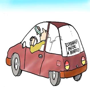 humor grafico bebe a bordo