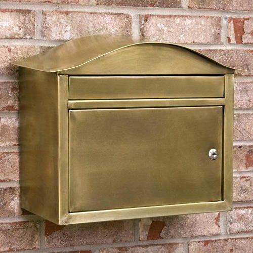 Kenton Locking Wall Mount Brass Mailbox Antique Brass Wall Mount Mailbox Signature Hardware Mounted Mailbox