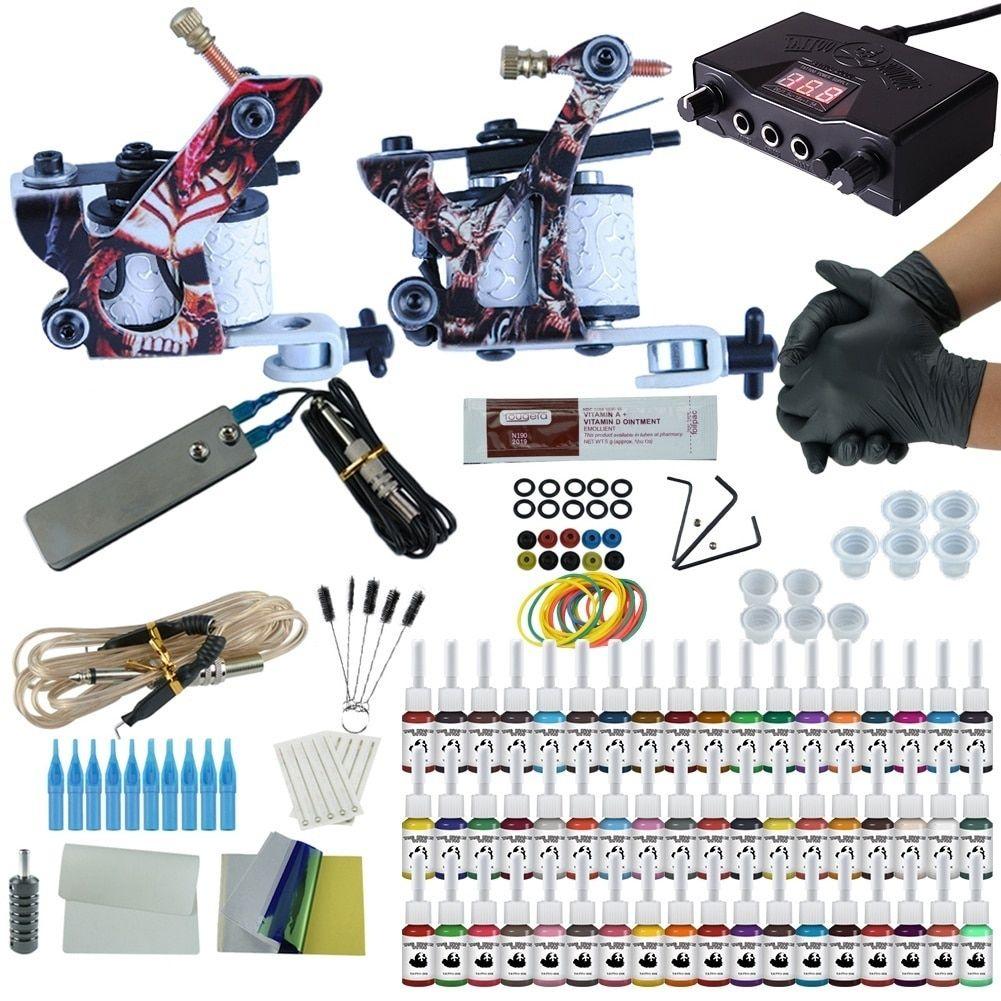 Complete tattoo kit set tattoo machine double dual power