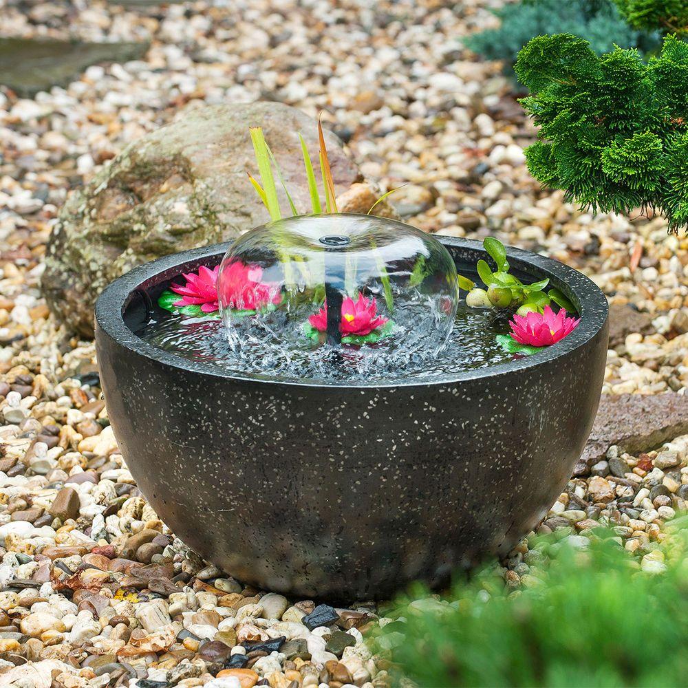 Ubbink Mini Teichset 1 Mit Pumpe Und Seerosen Polystone Garten Terrasse Teiche Bachlaufe Und Brunnen Spring Terrassenbrunnen Springbrunnen Miniteich