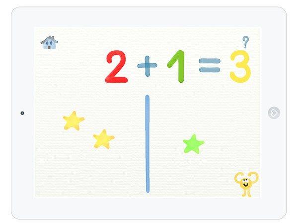 """Mit der Lern-App """"Zehn Finger"""" lernen Kinder spielerisch das Addieren mit Zahlen bis 10."""