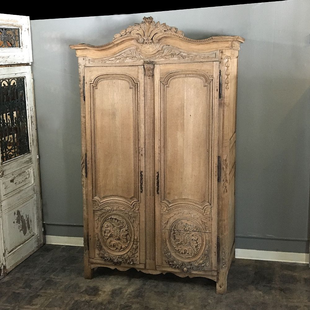 From The Master Artisans Of Normandie Comes This Stunning And Rare 18th Century Country French Louis Xvi Period S With Images French Armoire French Country Antique Armoire