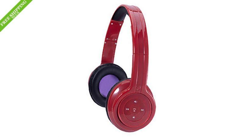 Craig Bluetooth Stereo Headphone- Red