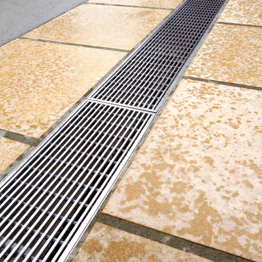Polymer Concrete Channel With Stainless Steel Wedge Wire Grate Perfect Solution For High Quality Surface Drainage In Sc In 2020 Surface Drainage Exterior Construction