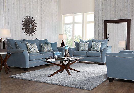 Aberdeen Indigo 7 Pc Living Room Living Room Sets Furniture Rooms To Go Furniture Living Room Sets