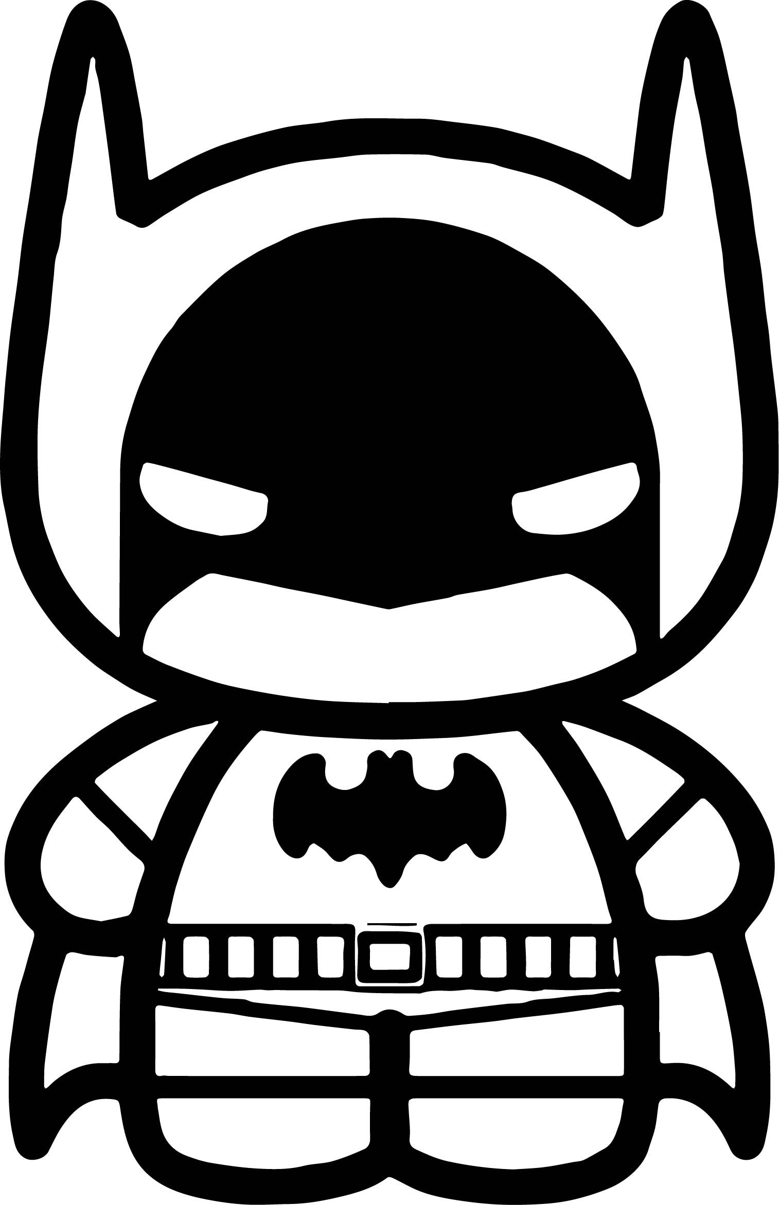 Chibi Cute Batman Coloring Page