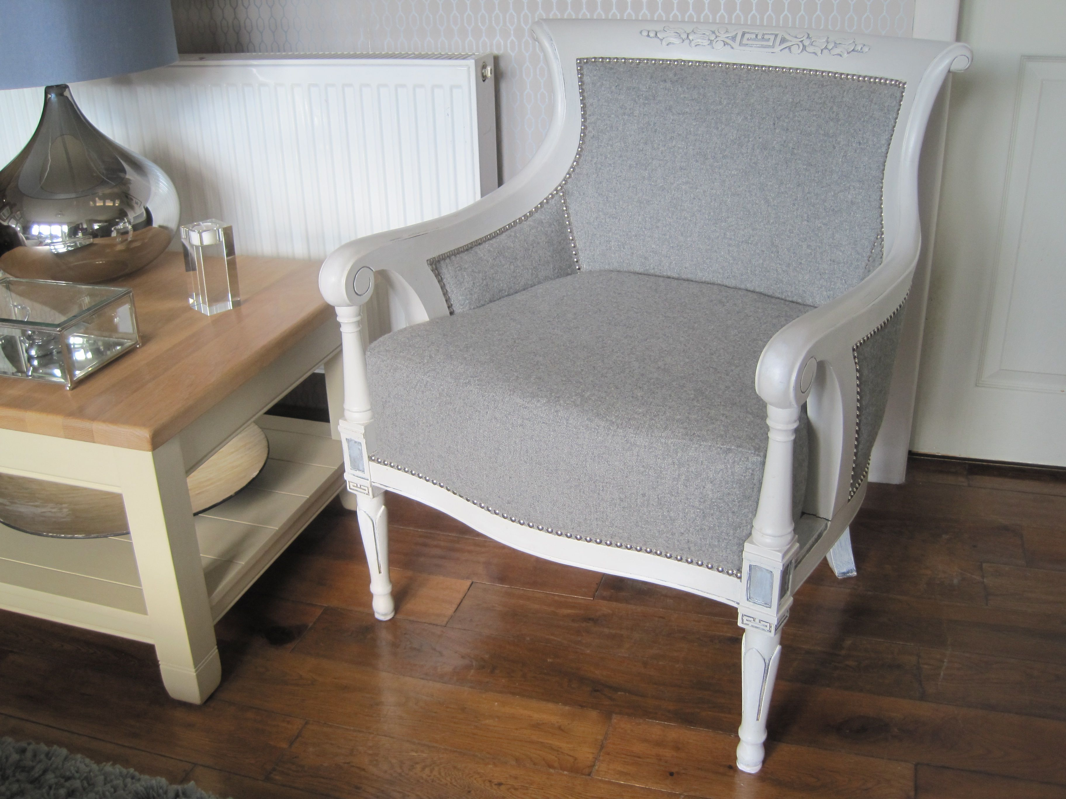 French style armchair. Bought the bare chair frame